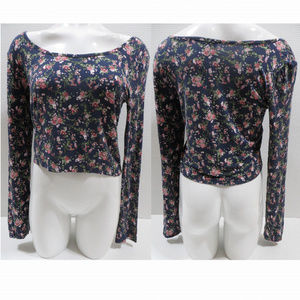 Rue 21 top XL floral long sleeve cropped